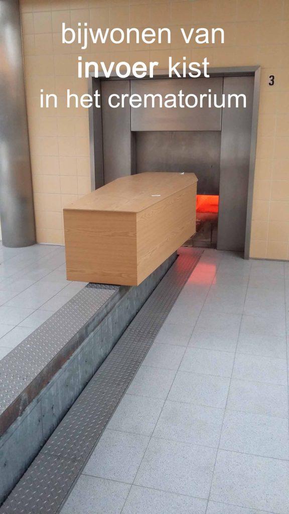 crematorium invoer met familie