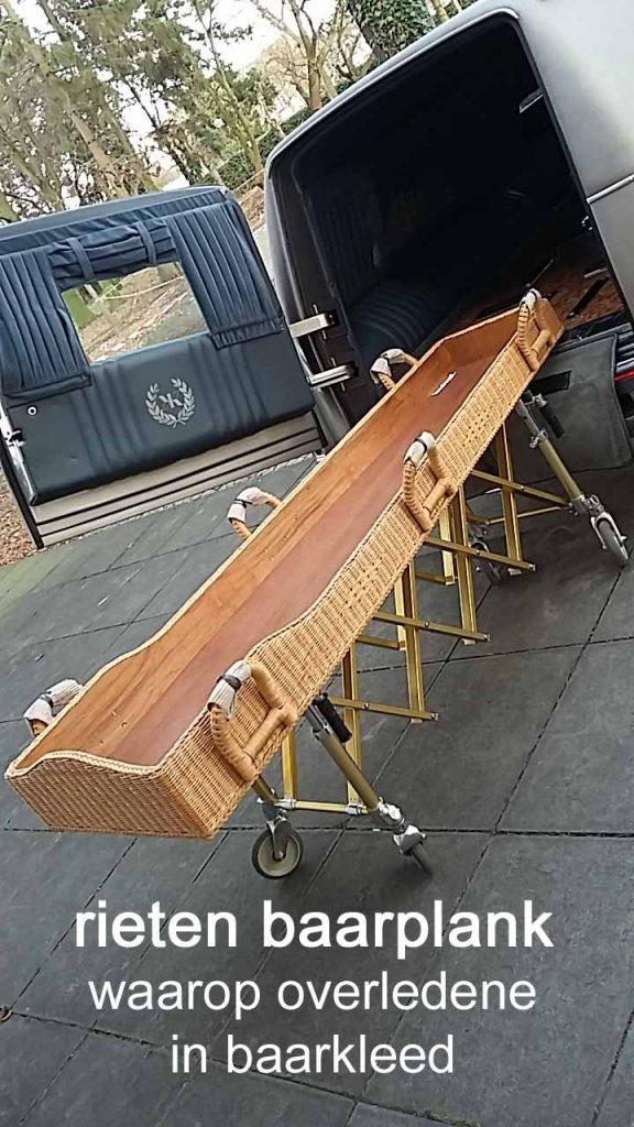 legplank begraven zonder kist